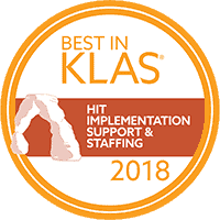 Best in KLAS HIT Implementation Support & Staffing 2018