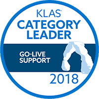 KLAS Category Leader Go-Live Support 2018
