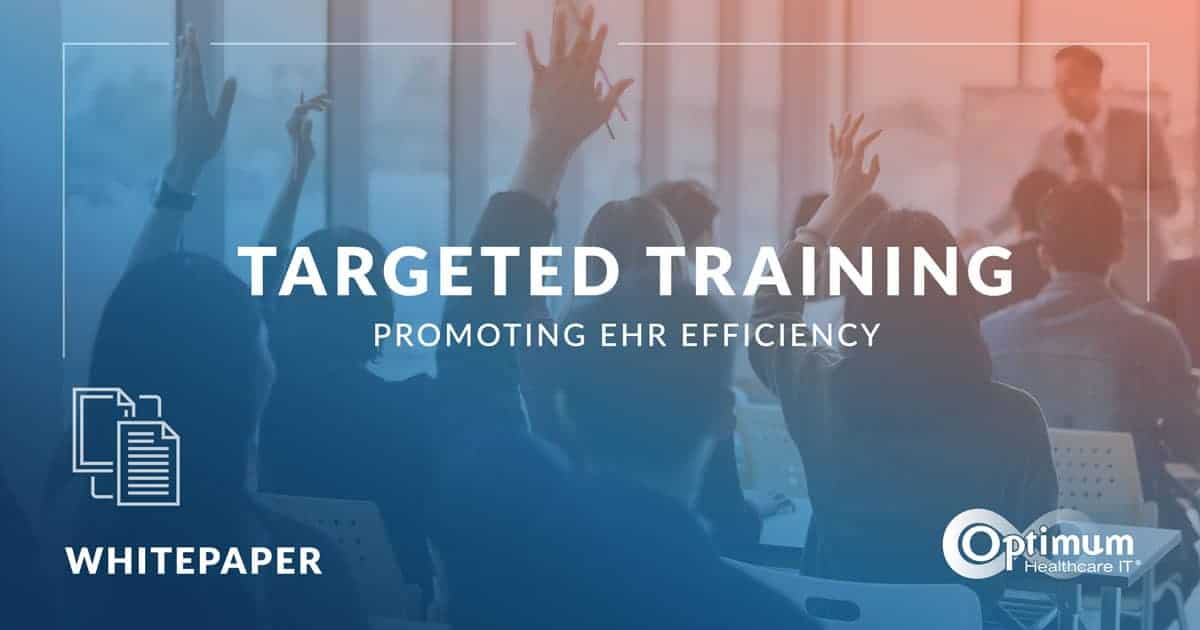 Targeted Training: Promoting EHR Efficiency